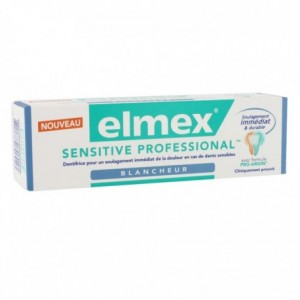 Elmex dentifrice blancheur sensitive 75 ml