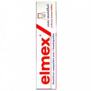 Elmex dentifrice sans menthol 75 ml