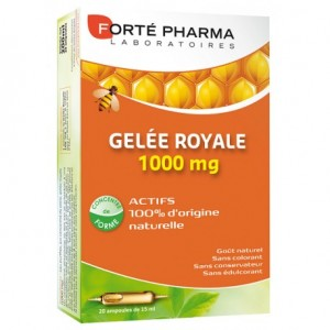 Gelée royale 1000 mg boîte - 20 ampoules