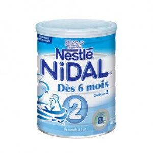 NIDAL Lait Natea 2e Age - 800 g
