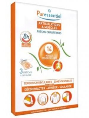Patchs chauffants aux 14 huiles essentielles - x 3