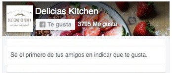 Sigue a Delicias Kitchen en Facebook