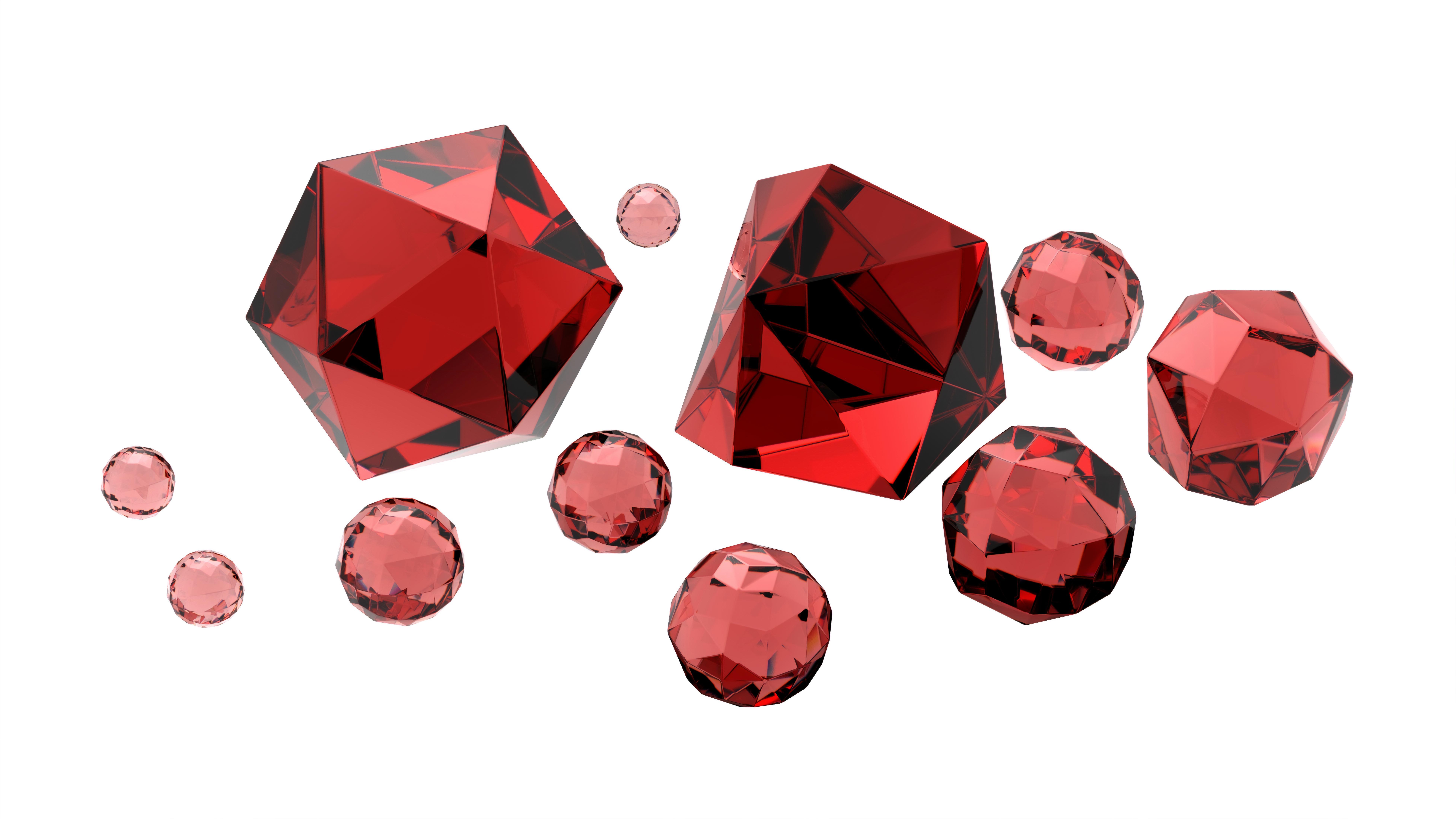 Isolierte schöne Rubine