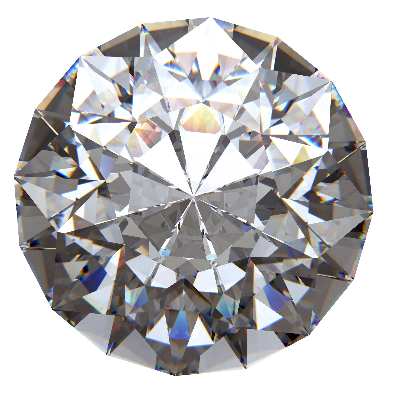 Diamant mit Brillantschliff