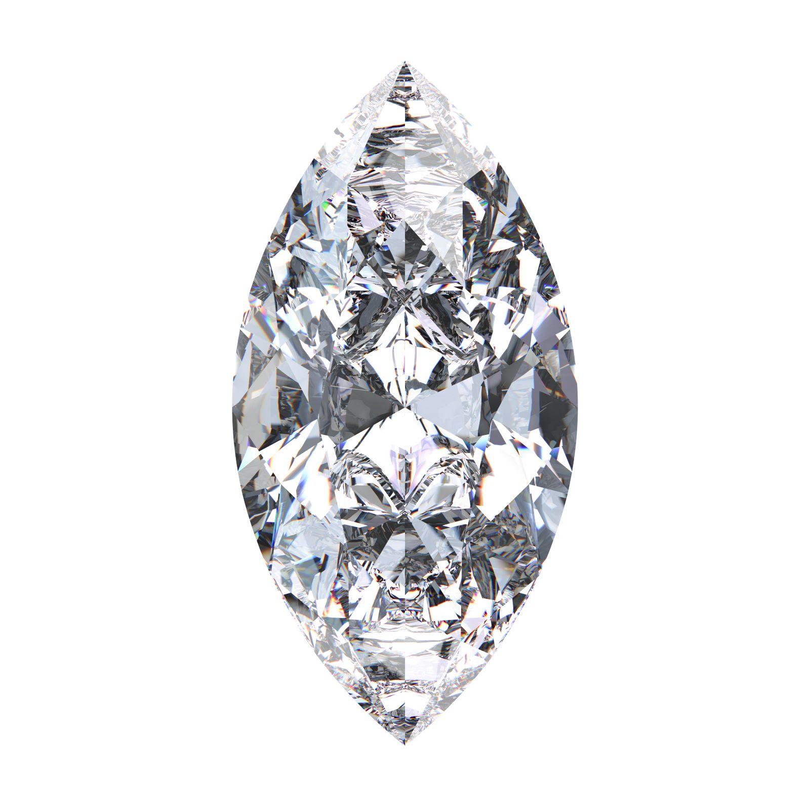 Diamant mit Marquiseschliff