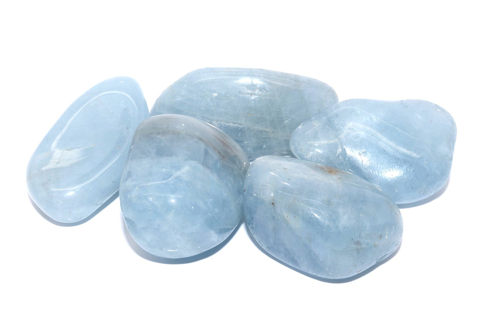 Verschiedene Aquamarine hellblau