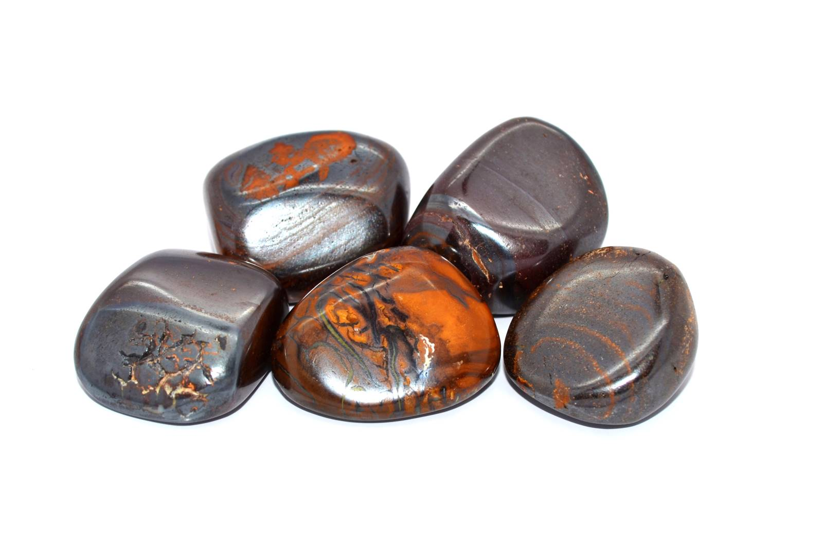 Boulder Opal schwarz gemasert