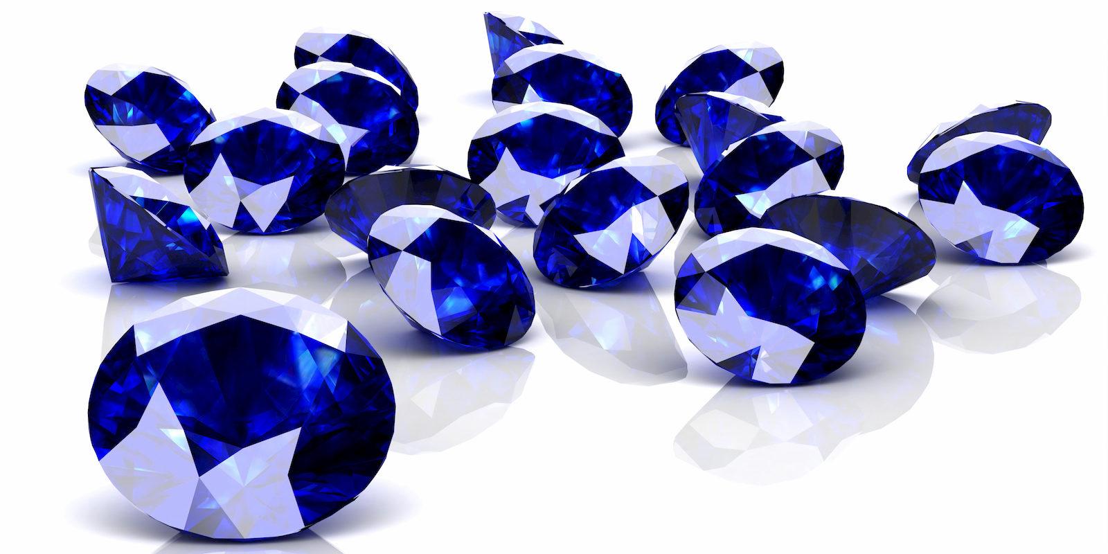 Blue sapphires cut
