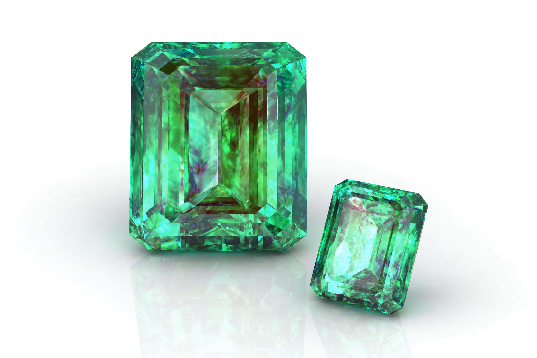 Diamanten mit Smaragdschliff