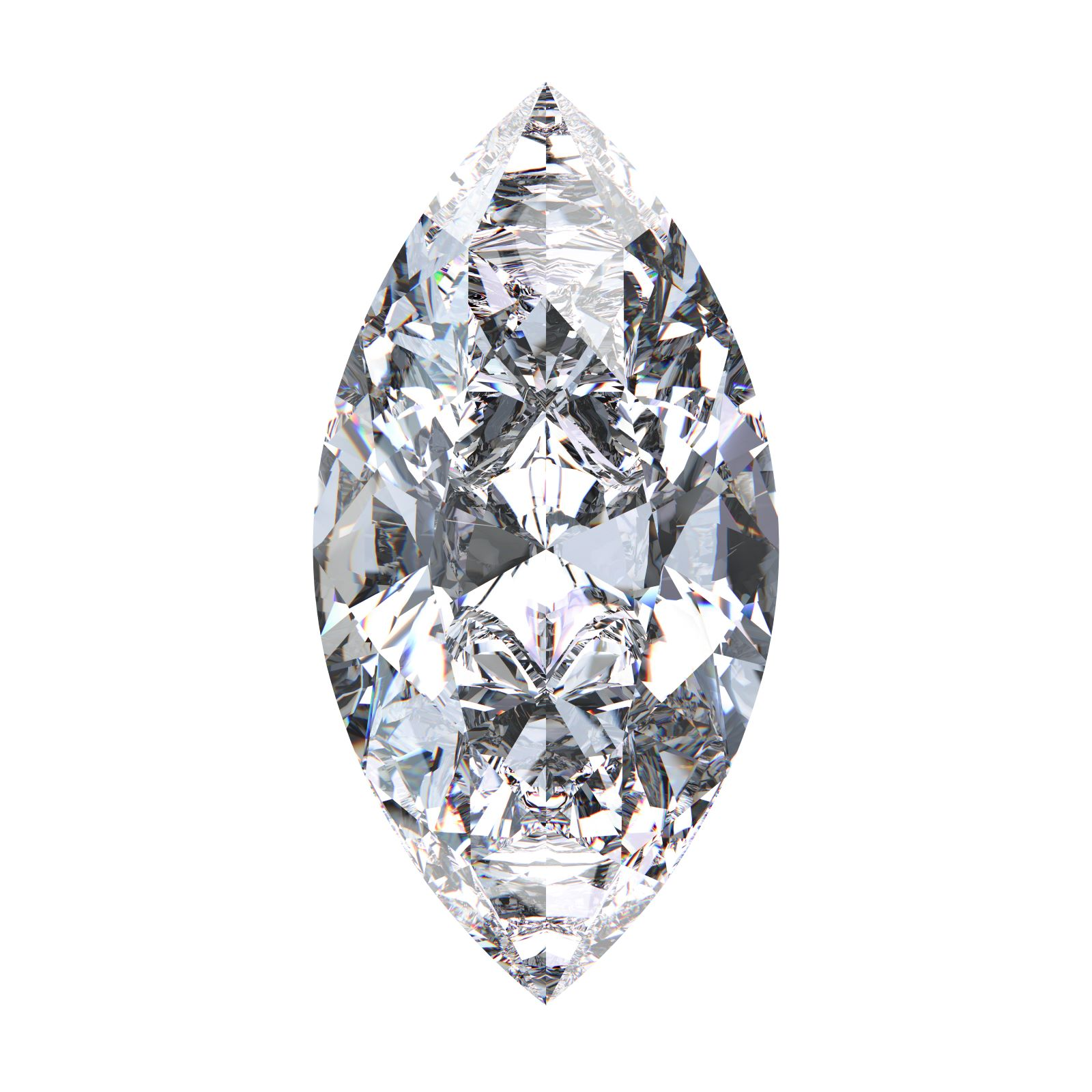 Diamond with marquise cut