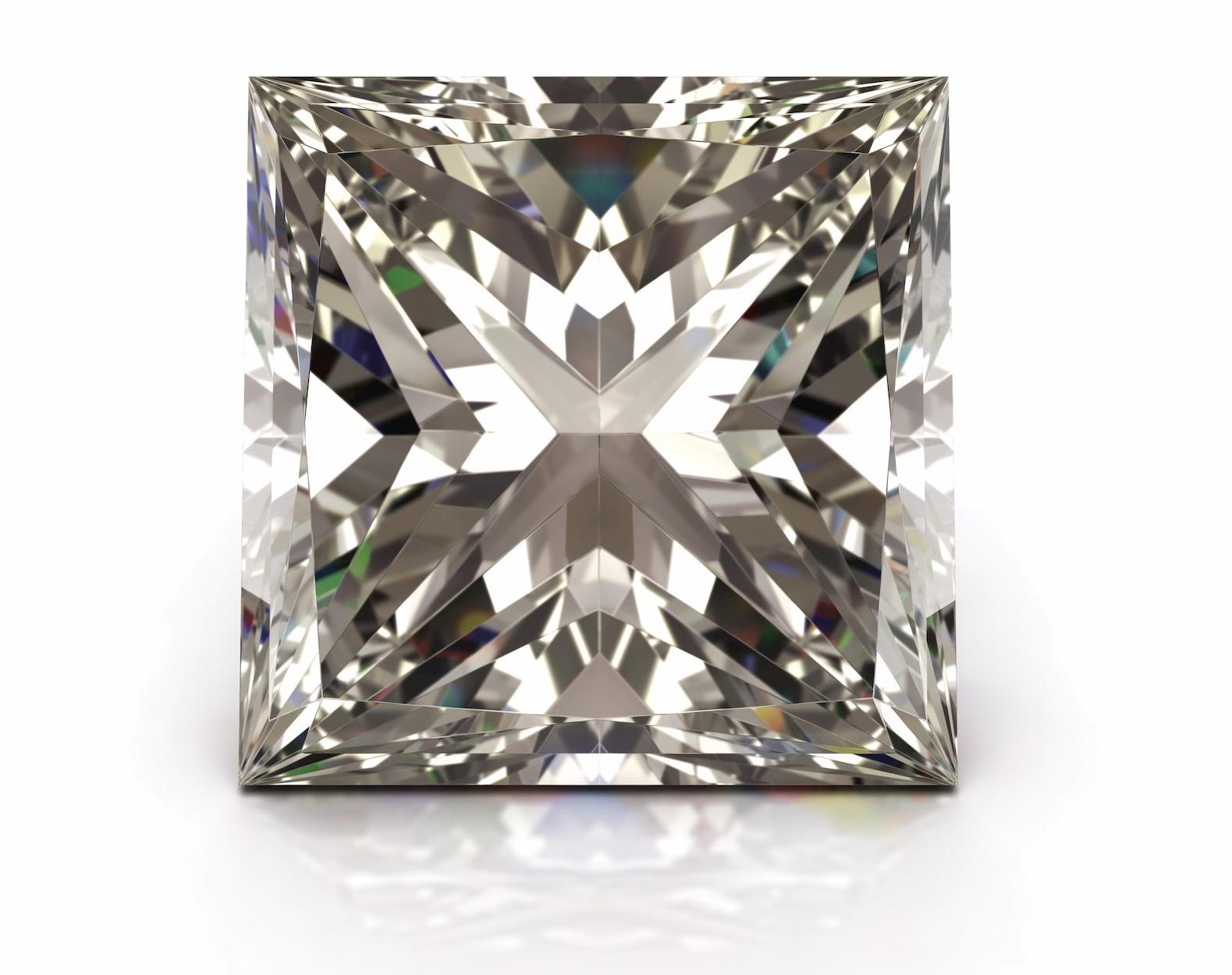 Diamond with princess cut