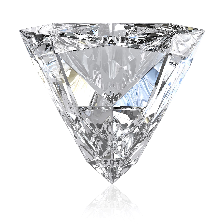 Diamond with trilliant cut