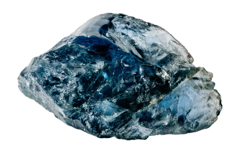 Kristall eines blauen Saphirs
