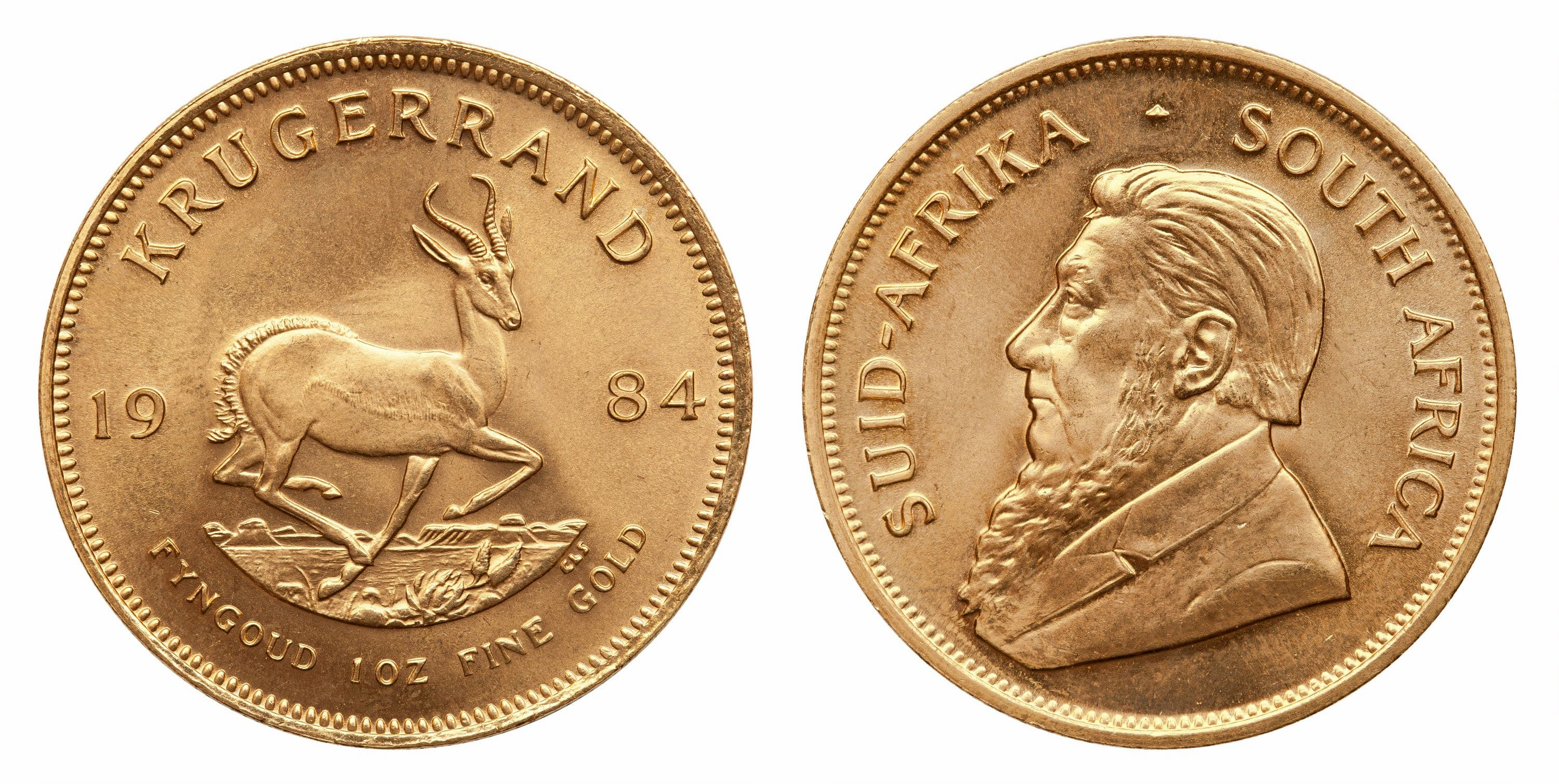 Krugerrands gold coin