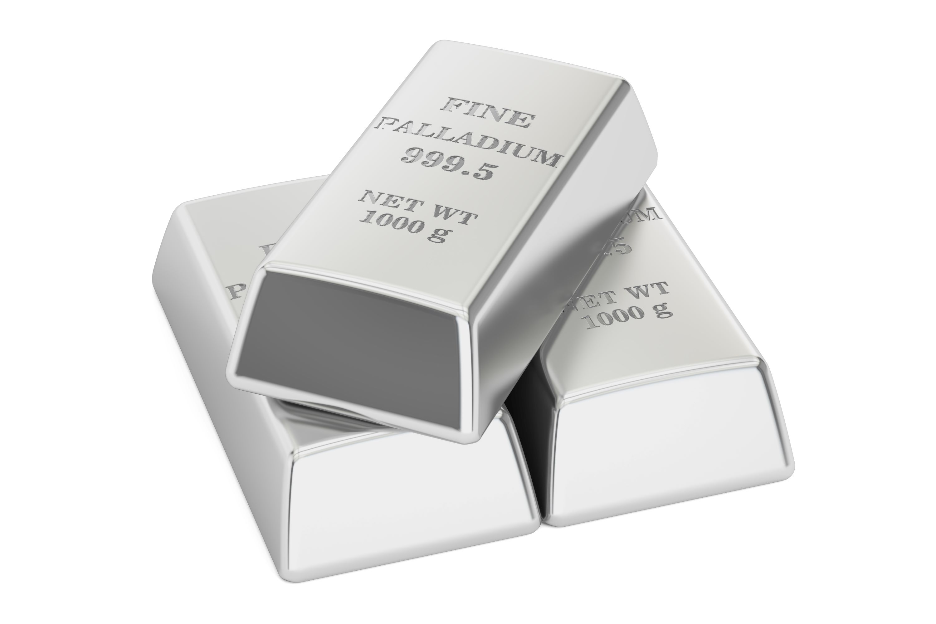 Palladium bullion bars