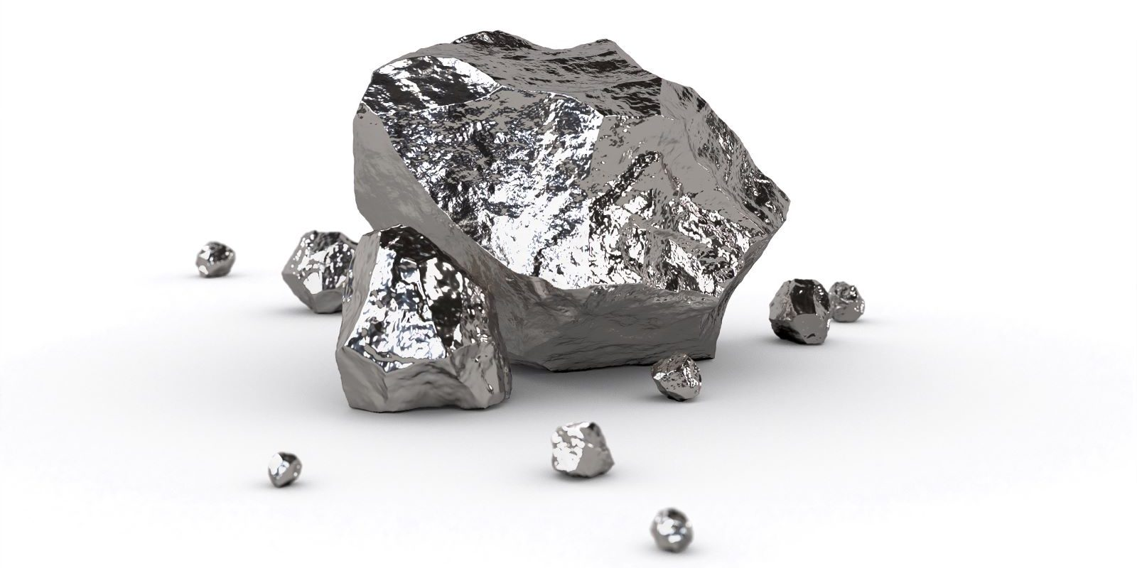 Platin isoliert mineralischer Rohstoff