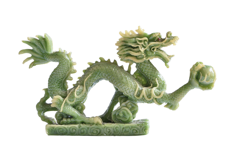 Drachen aus grüner Jade