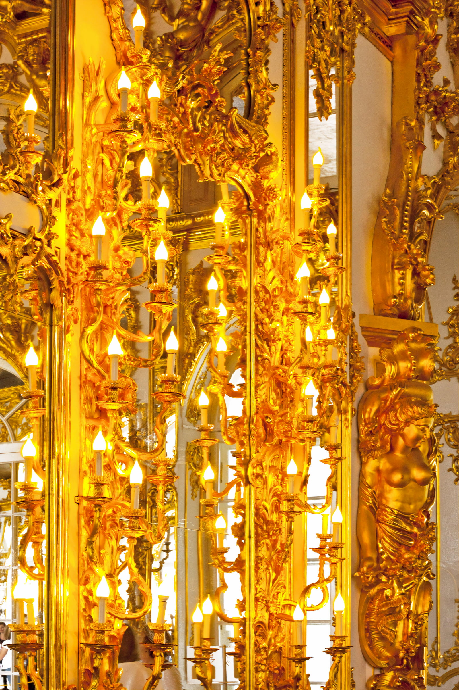 Amber Room in the Catherine Palace