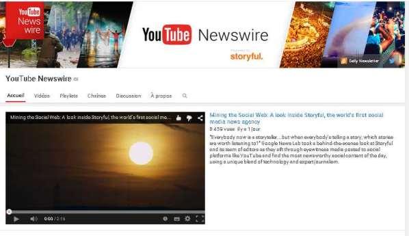 Youtube débarque dans le journalisme avec Newswire