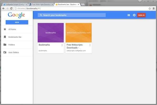 L'ancien gestionnaire de favoris est de retour dans Google Chrome