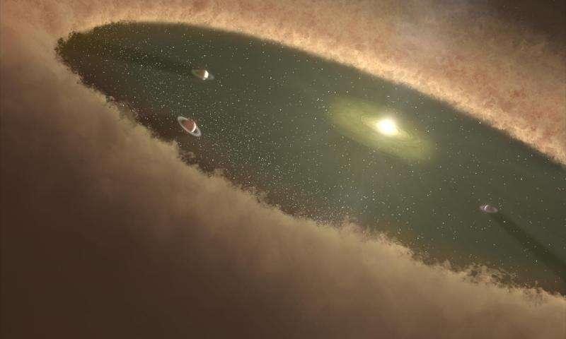 Des galets à l'origine de Jupiter et de Saturne