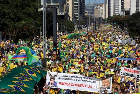 Brésil : Manifestations pour la démission de Dilma Rousseff