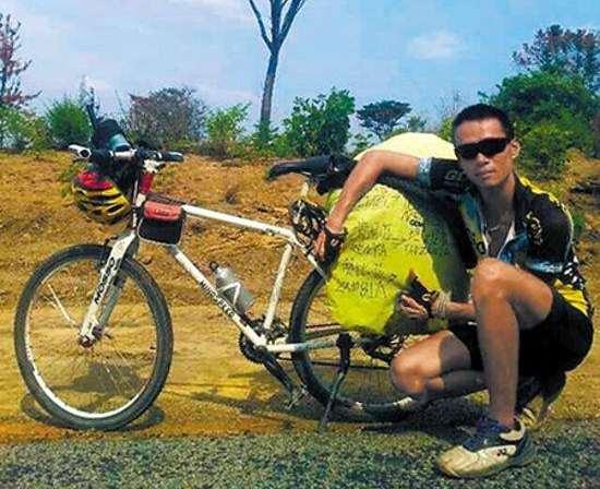 Un chinois fait du vélo jusqu'en Afrique après une dispute avec sa copine
