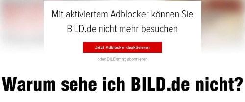 Axel Springer bannit les utilisateurs d'Adblock de son média Bild