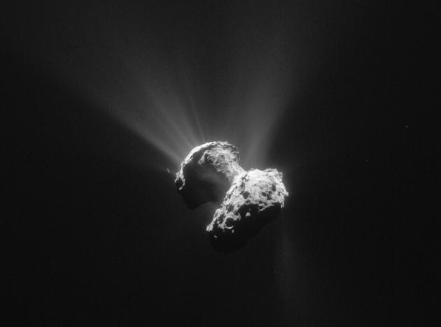 Rosetta détecte de l'oxygène sur la comète Tchouri