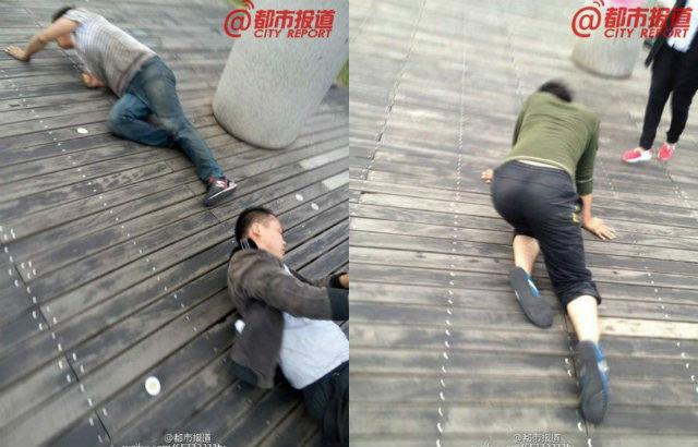 Une entreprise chinoise punit ses employés en les faisant marcher à genoux