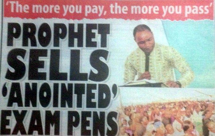 Un pasteur africain vend des stylos bénis pour réussir vos examens