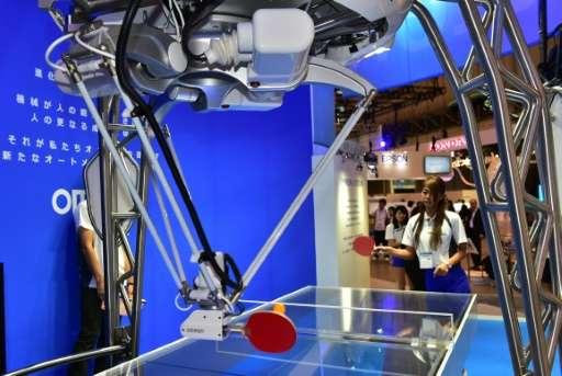 Un robot qui joue au ping-pong