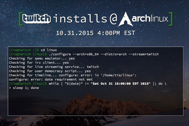 Twitch veut installer Arch Linux