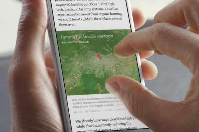 Facebook Instant Articles déçoit les médias à cause de la limite sur la publicité