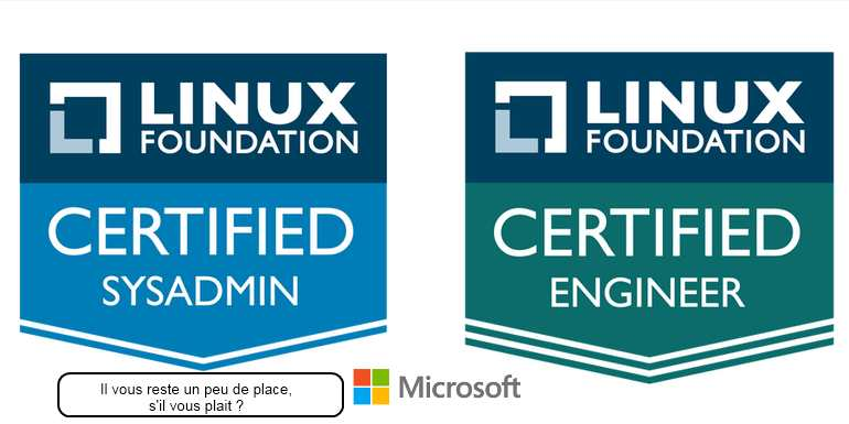 Microsoft propose une certification Linux