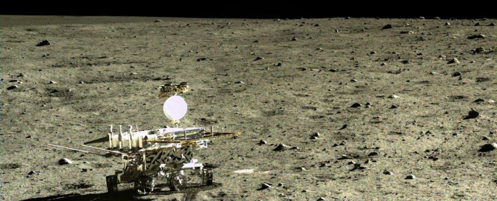 Une nouvelle roche lunaire découverte par le Rover chinois YuTu