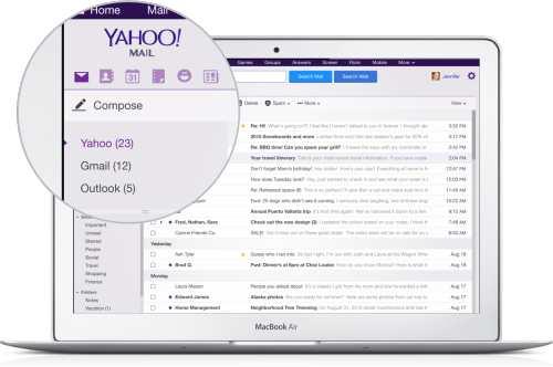 L'application Yahoo mail supporte désormais Gmail