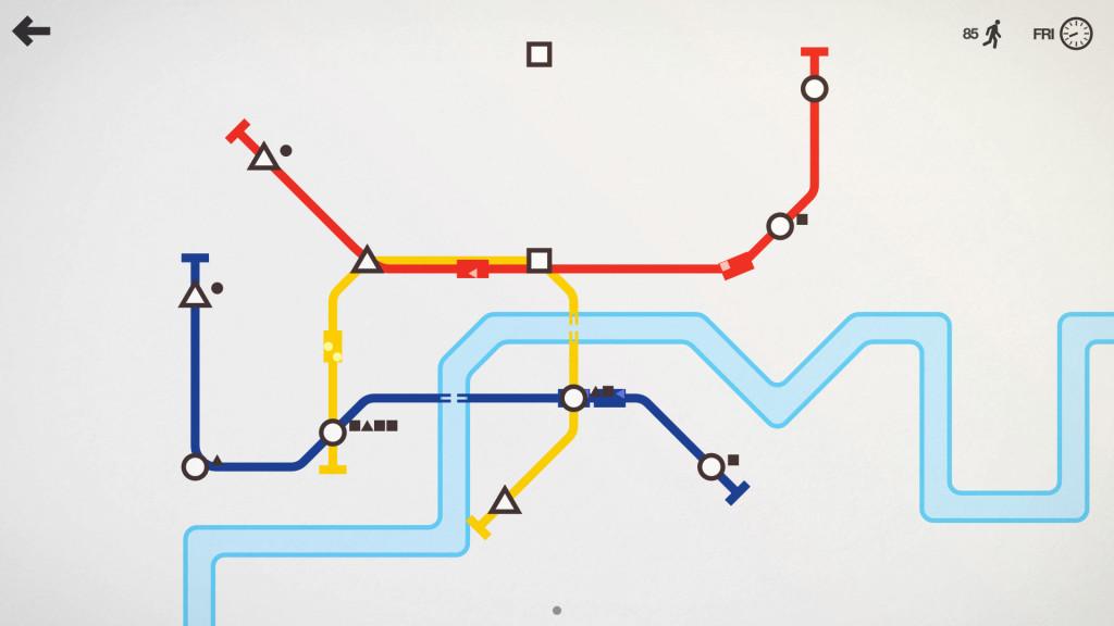 Mini Metro est l'un des meilleurs jeux vidéos de 2015
