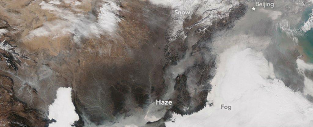 Cette image montre tout le problème de la pollution en Chine