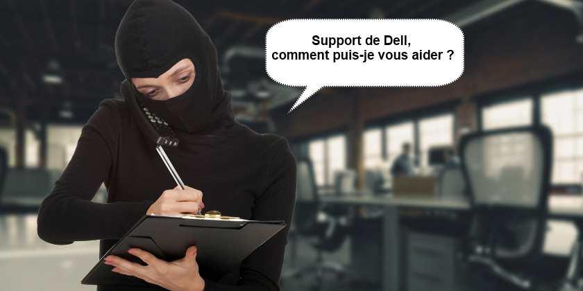 Piratage des ordinateurs Dell pour l'arnaque du faux support technique