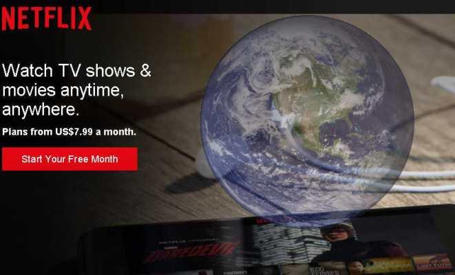 Netflix est disponible quasiment dans le monde entier