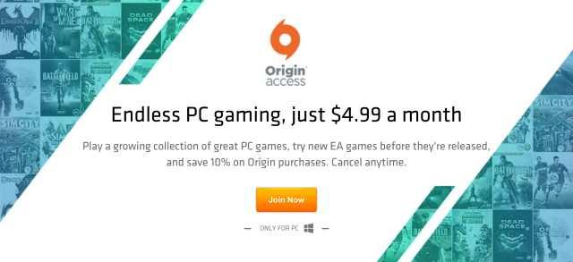 Origin Access : EA lance un abonnement mensuel de 5 dollars pour des jeux PC