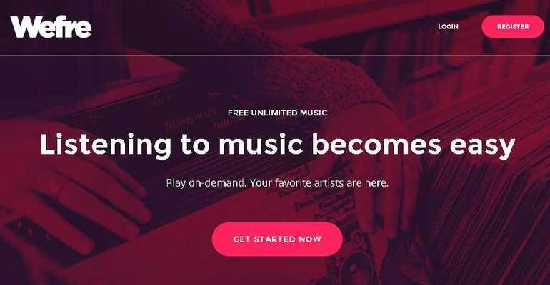 WeFre est une combinaison de Spotify et de Youtube