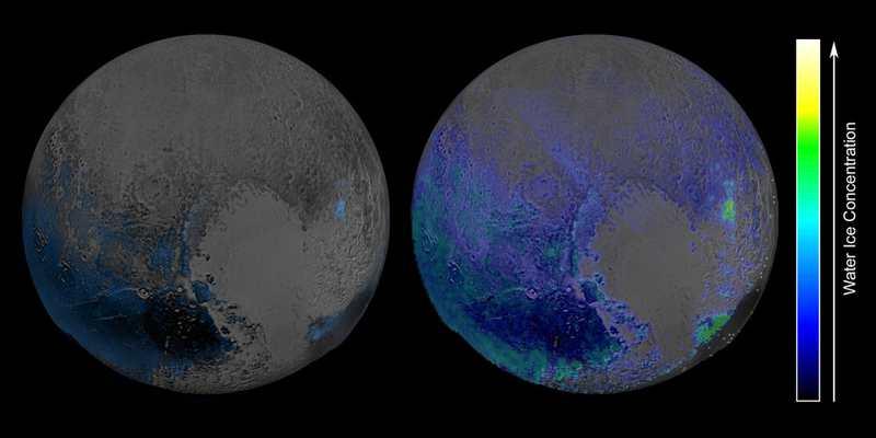 La planète Pluton est quasiment recouverte d'eau gelée pure