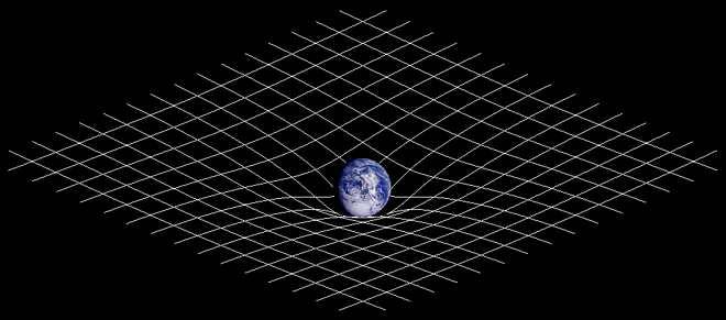 Représentation d'une vague gravitationnelle