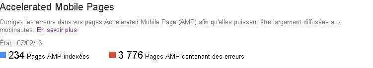 Les pages AMP (Accelerated Mobile Pages) dans la Search Console