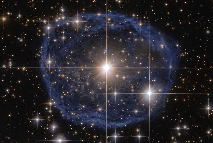 La bulle bleue vue par Hubble