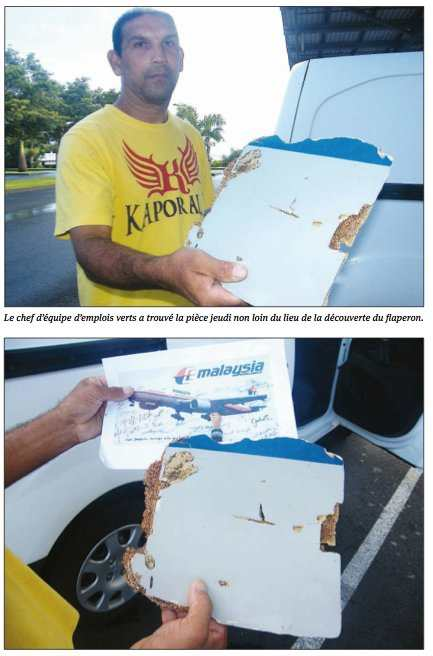 Découverte de débris du MH370