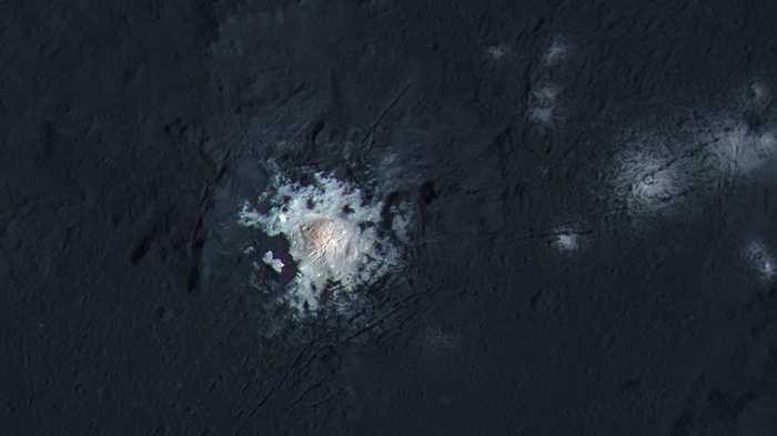 Le point brillant sur Cérès pourrait nous donner une idée de ce qu'il y a sous sa surface