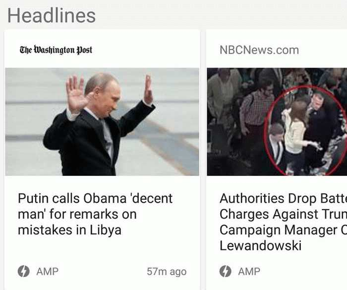 Accelerated Mobile Pages : Une incitation pour Google News